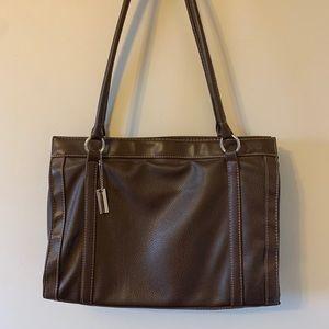 2/$18 Brown / Faux Leather / Purse / Brief Case